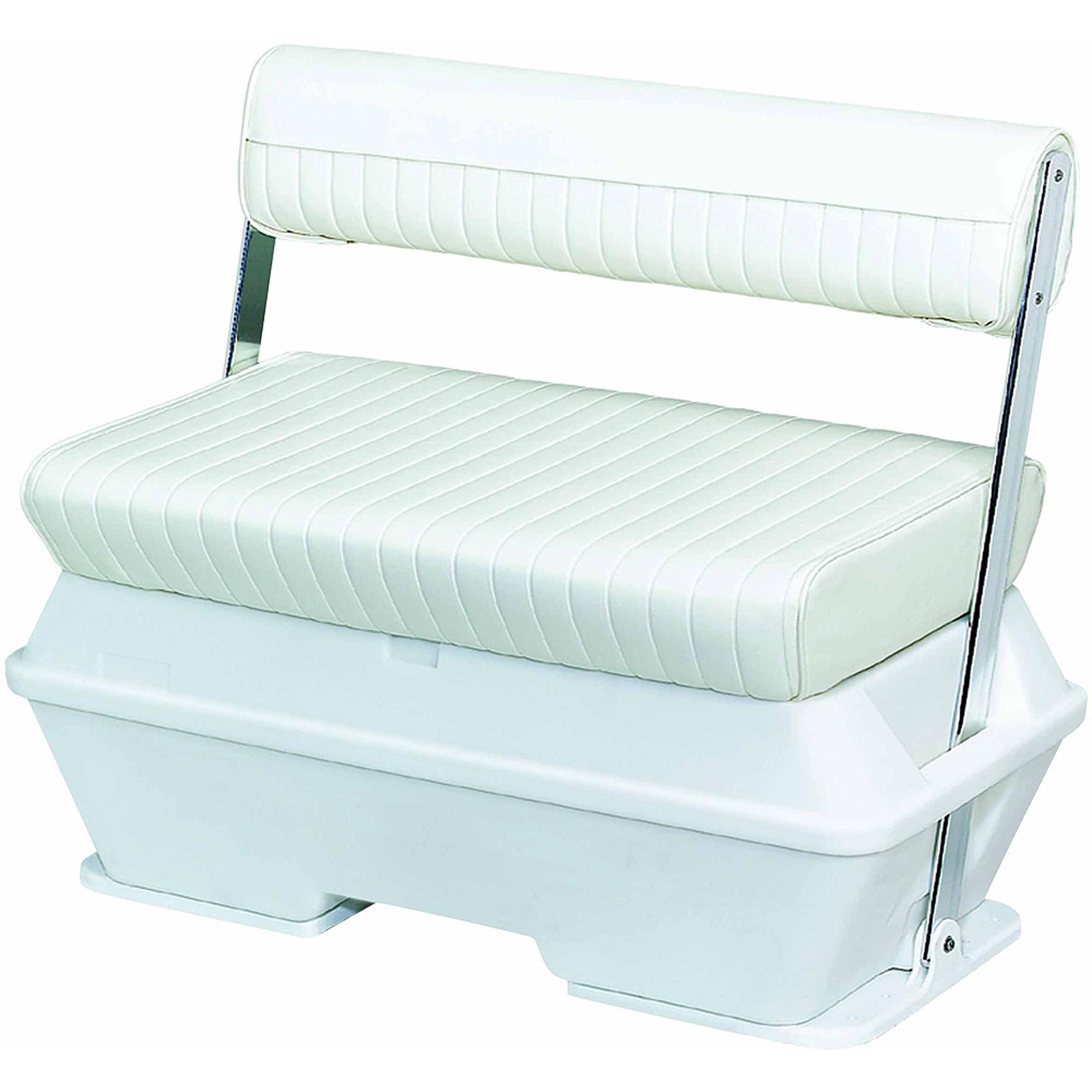 Wise Flip Flop Seat W 50 Quart Cooler Color White Boat